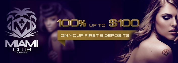 Miami club casino Welcome bonus